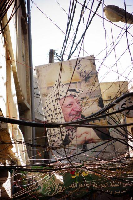 Le visage de Yasser Arafat est omniprésent dans les camps